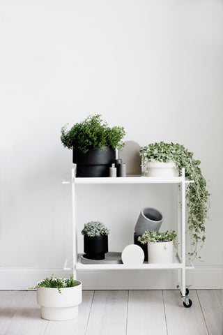 Podium Pot - Flat, White