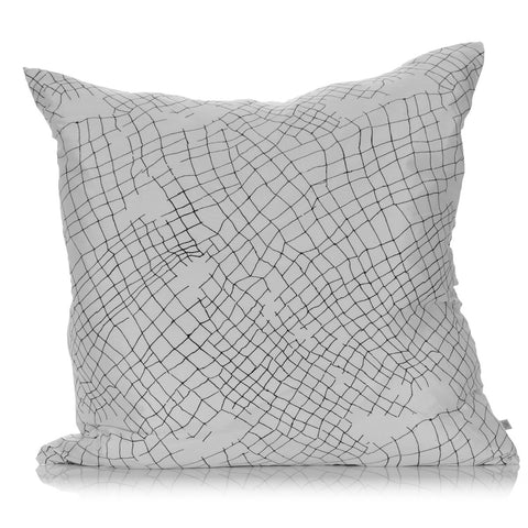 White Net Large Silk Cushion