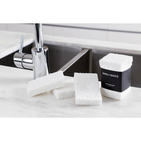 All White Cellulose Sponge Set