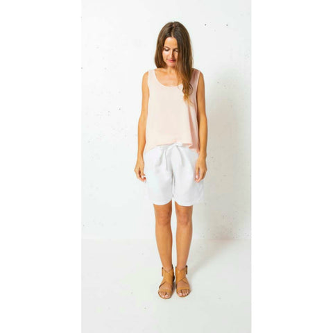Cruz Linen Short in White