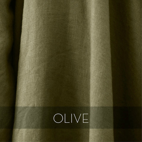 Cultiver Linen Pillowcase Set in Olive
