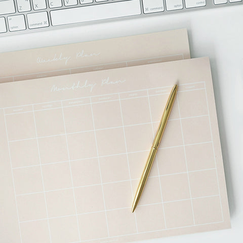 Monthly Planner Notepad - Pink
