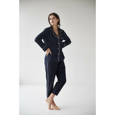 Frank Pyjama Set in Navy