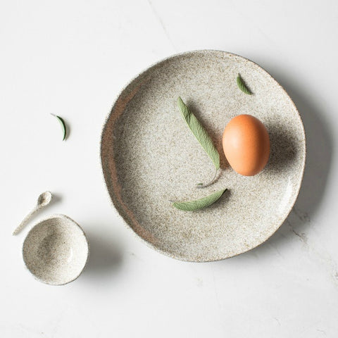 Handmade Ceramic Salt Dish + Spoon