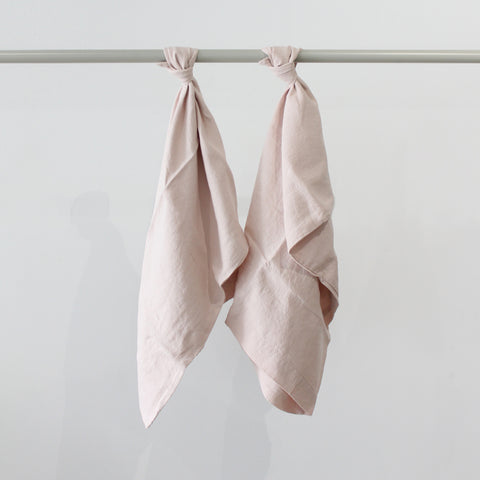 Cultiver Linen King Pillowcase Set in Blush