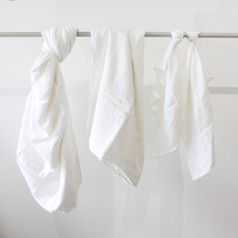 Cultiver Linen Sheet Set in White