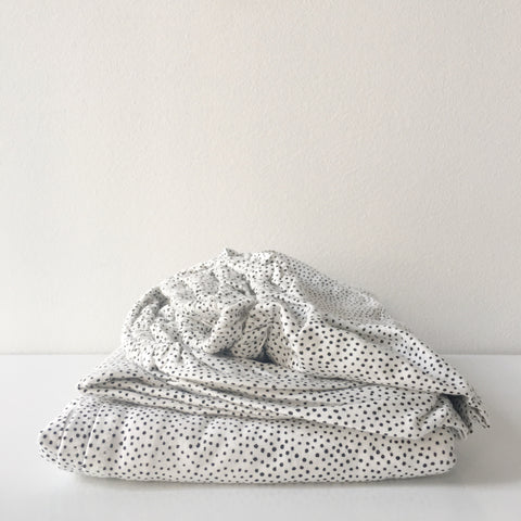 Organic Cotton Sprinkles Sheet Set in Milk