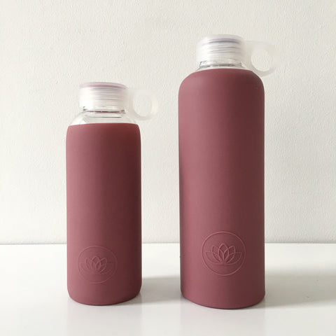 Glass Water Bottle in Marsala