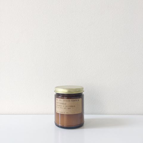 No. 01 Spiced Pumpkin Soy Candle