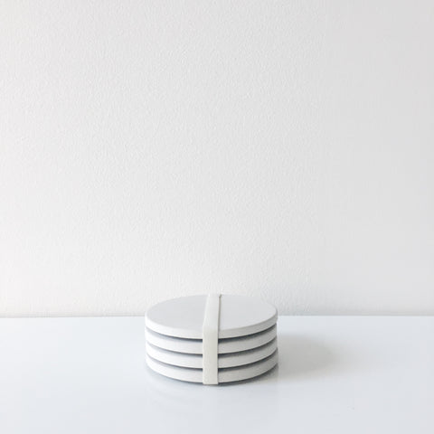 Concrete Coasters - White