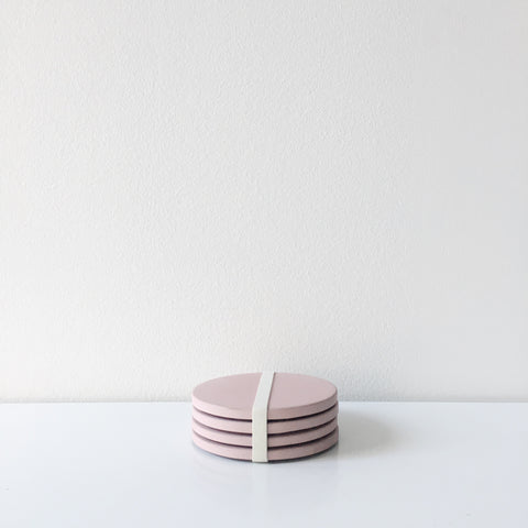 Concrete Coasters - Pink