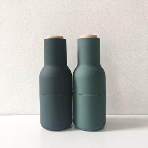 Norm Bottle Grinder Set in Dark Green