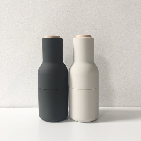 Norm Bottle Grinder Set in Ash + Carbon