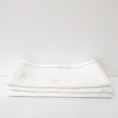 Cotton Linen Tea Towel in White