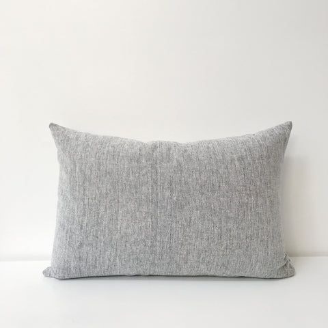 Woven Long Cushion in Grey