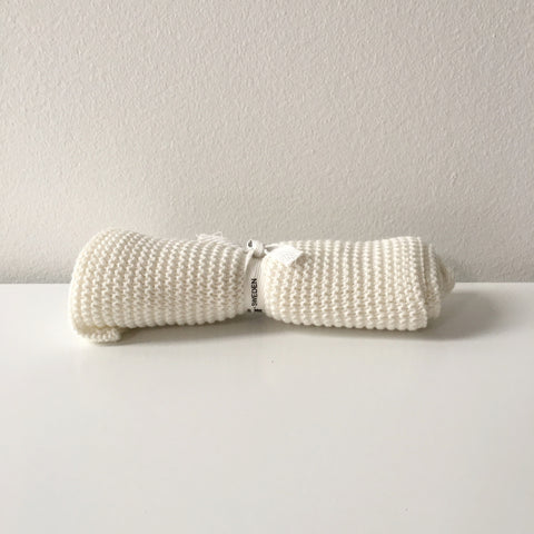 Organic Cotton Washcloth in White