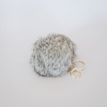 Honey Bunny Keyring - Smoke Grey