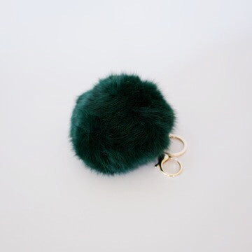 Honey Bunny Keyring - Forest Green