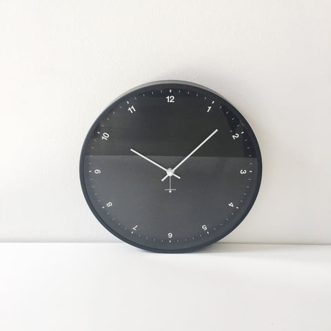 Small Numbers Clock in Black