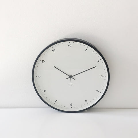 Small Numbers Clock in White + Black