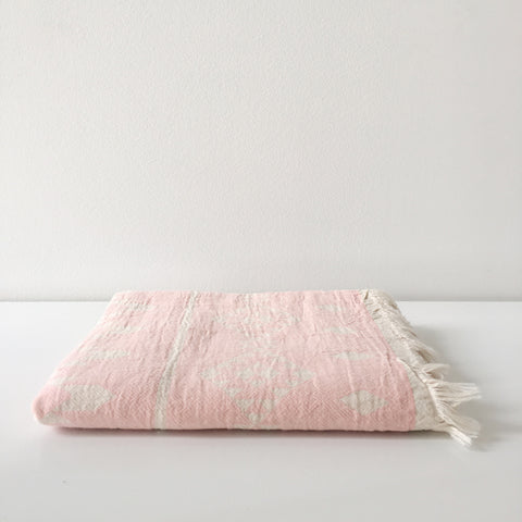 Oteki Kilim Towel in Rose Quartz