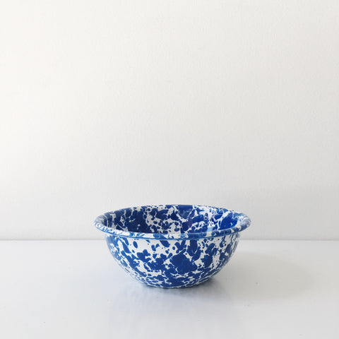 Blue Marble Enamel Bowl - Small