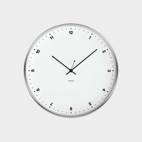 Small Numbers Clock in White