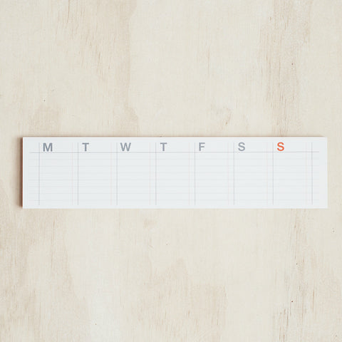 Sticky Note Weekly Desk Planner