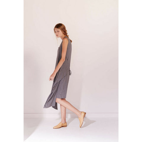 Building Block Envelope Dress in Dark Grey Marle