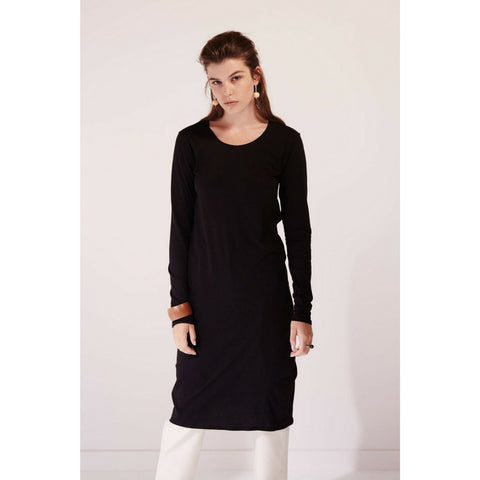 Building Block Long Sleeve Dress in Black