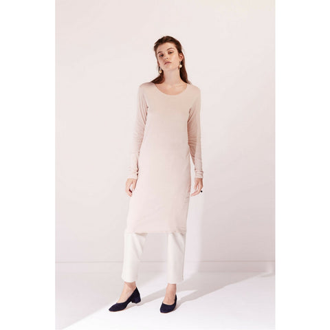 Building Block Long Sleeve Dress in Blush