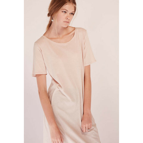 Building Block Tee Shirt Dress in Blush