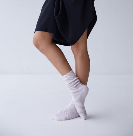 Henry Cashmere Socks in Blush