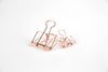 Rose Gold Bulldog Clip - Large