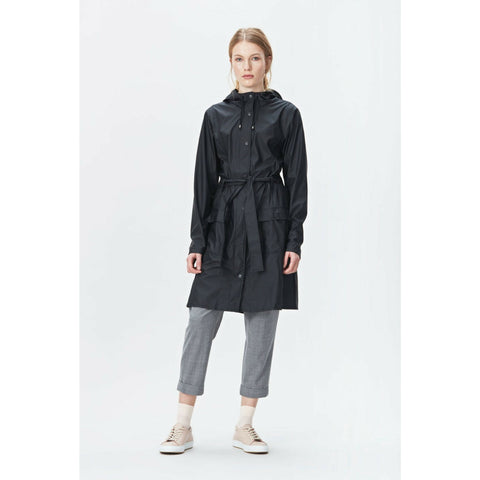 Rains Curve Jacket in Black