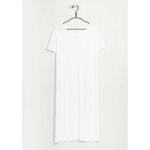 Building Block Tee Shirt Dress in White