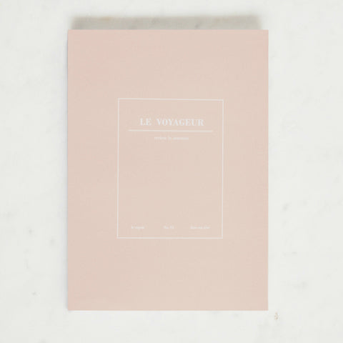 Le Voyageur Lined Notebook - Pink