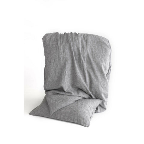 Linen Duvet Cover Set in Charcoal Chambray