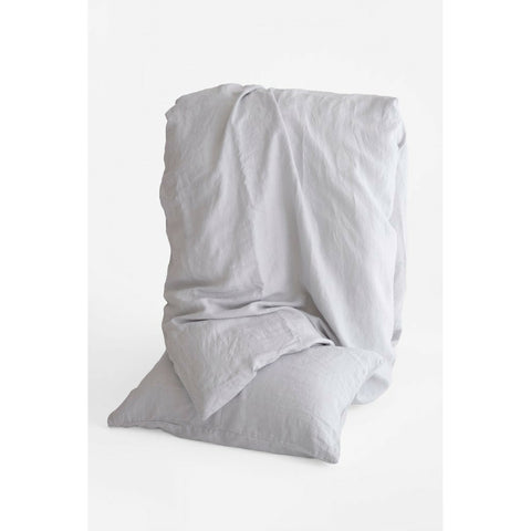 Linen Duvet Cover Set in Fog Grey