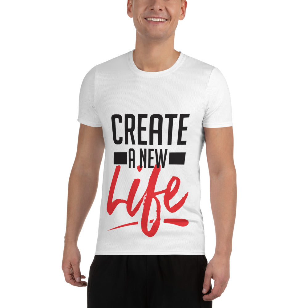 Create A New Life All-Over Print Men's Athletic T-shirt