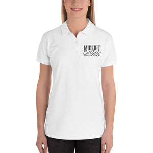 Midlife Crisis Embroidered Women's Polo Shirt