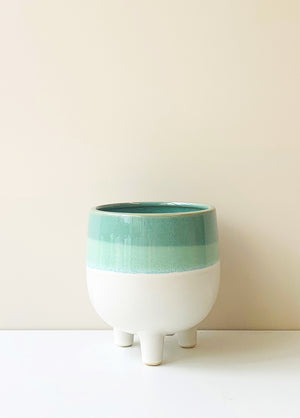 Bella Aqua Ceramic Planter