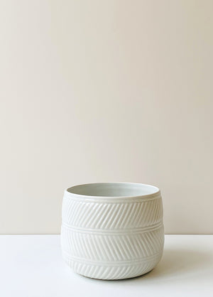 Eva Ceramic Planter - White