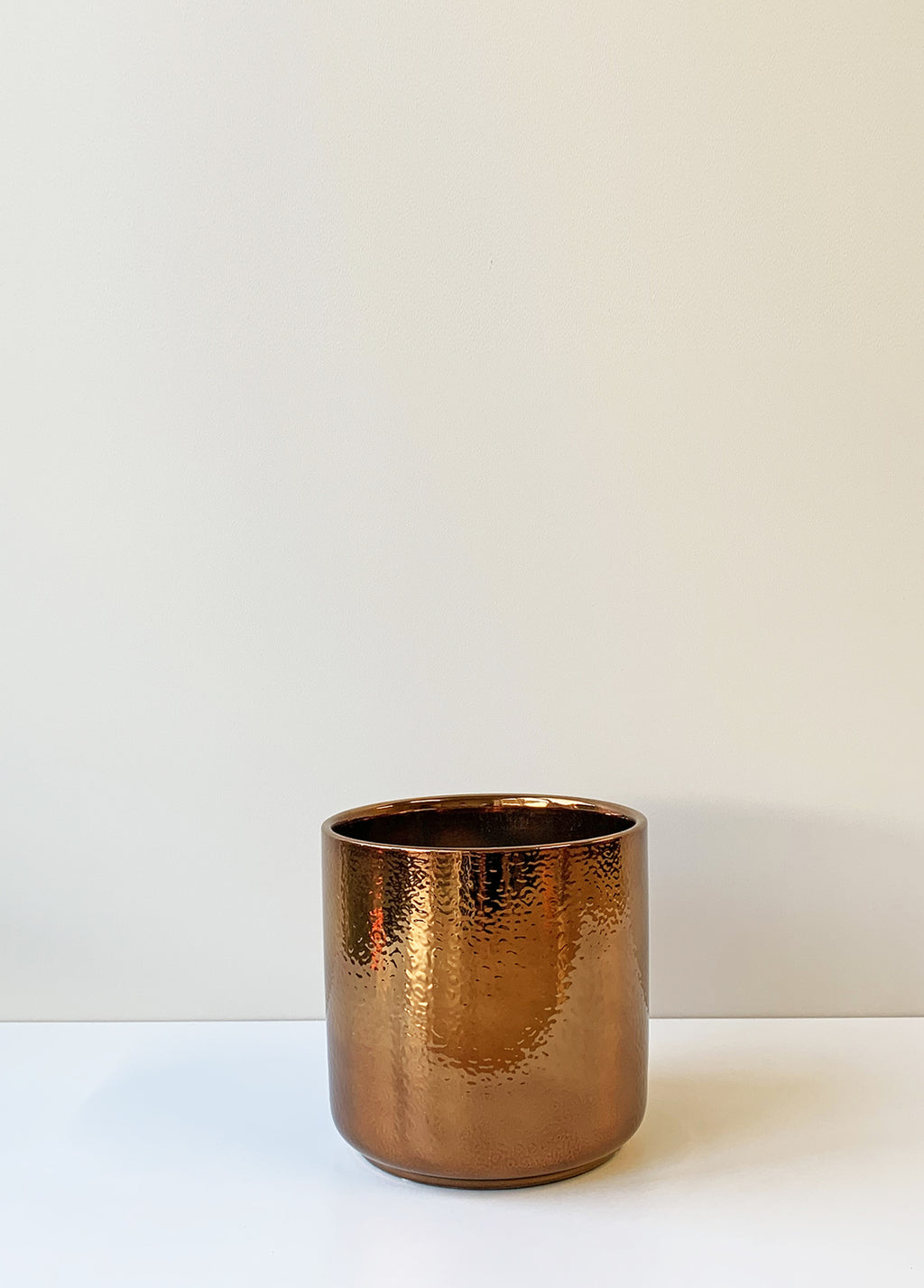 Ceramic Planter Medium - Copper