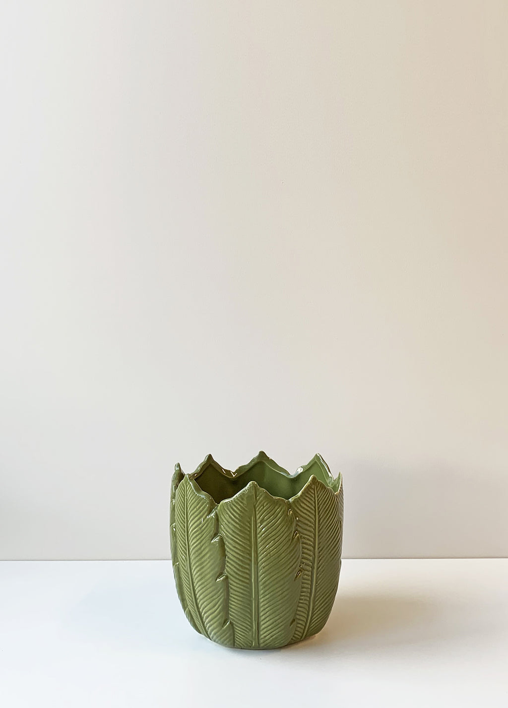 Ceramic Leaf Planter Medium