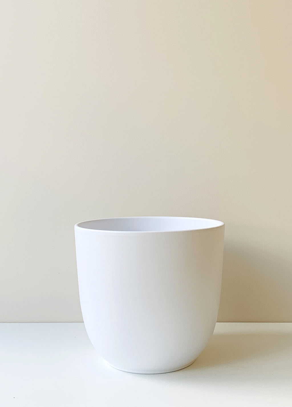Large Tusca White Ceramic Planter
