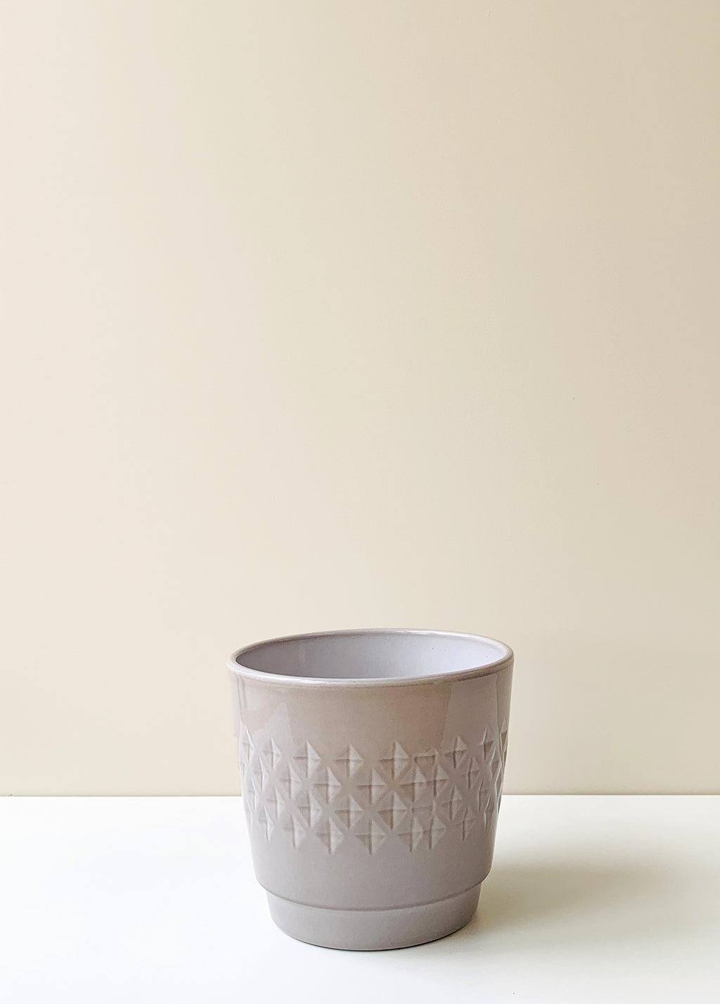Bjorn Taupe Ceramic Planter