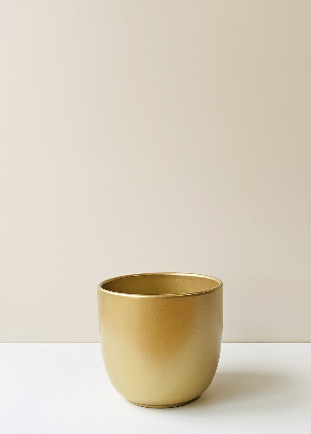 Tusca Gold Ceramic Planter
