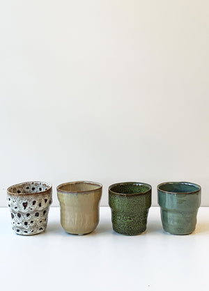 Set of 4 Mini Glazed Pots