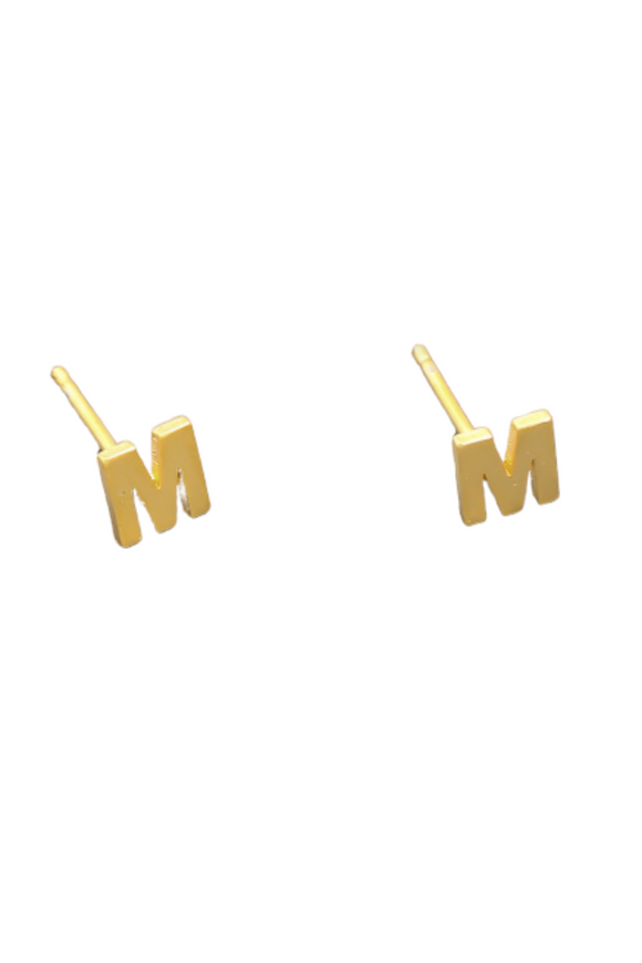 Gold Dipped Initial Studs